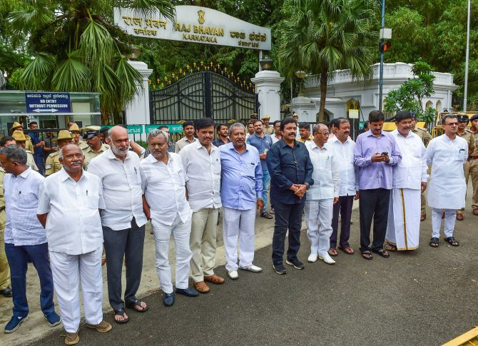 16 of 17 disqualified Karnataka MLAs join BJP