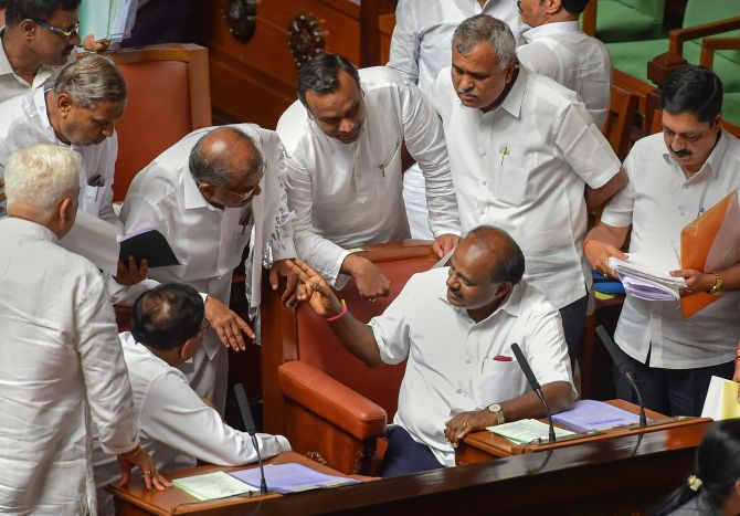 2 rebel K'taka MLAs fail to appear before Speaker