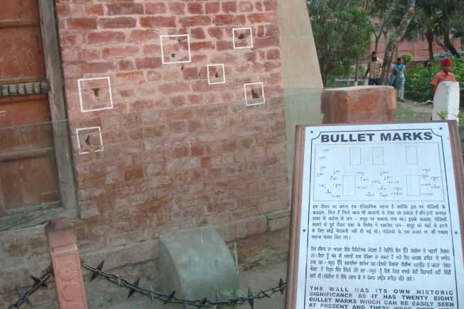 This wall, riddled with bullet holes, stands testimony to the carnage that took place at Jallianwala Bagh on April 13, 1919.