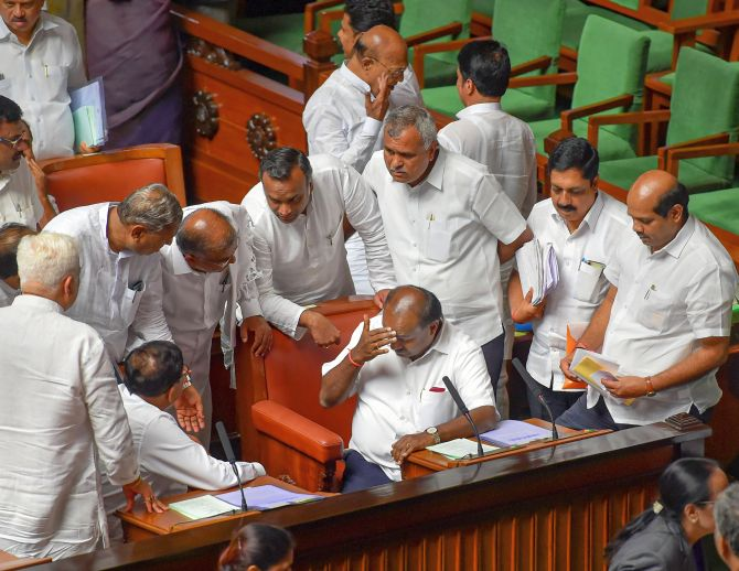 Trust vote today, fate of K'taka govt hangs in balance