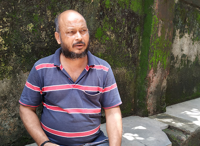 Rakesh Chaurasia, the dead woman's brother-in-law. Photograph: Rajesh Karkera/Rediff.com