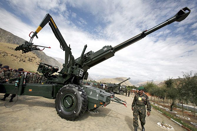 The Bofors 155mm howitzers, the focus of a kickback scandal targeting former prime minister Rajiv Gandhi in the late 1980s and which subsequently acquitted itself remarkably in the Kargil war.