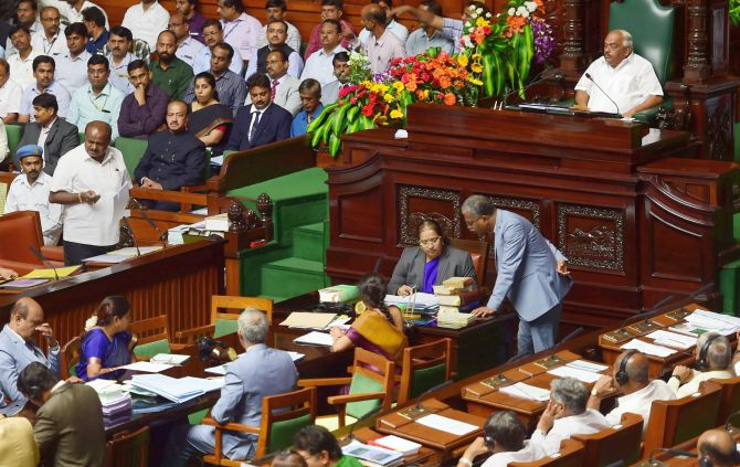 Speaker asks govt to complete trust vote on Monday