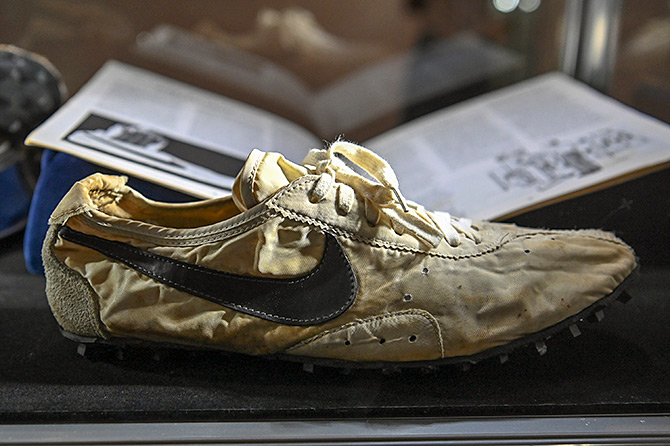 Sole-d to the highest bidder! Rare shoes auctioned off