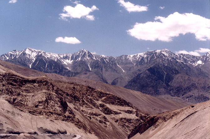 View of landscape from Kargil to Leh