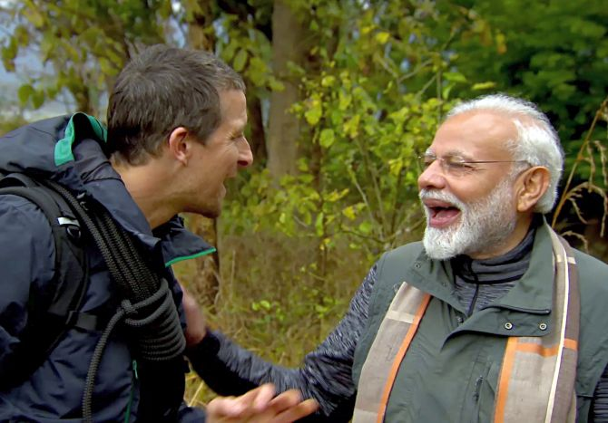 PM reveals how Bear Grylls understood his Hindi