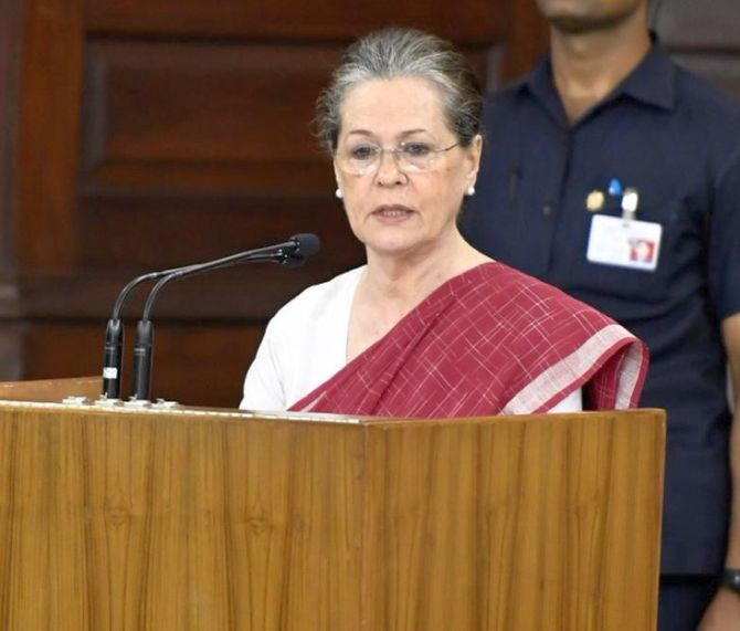 They're taking India backward: Sonia targets Modi govt