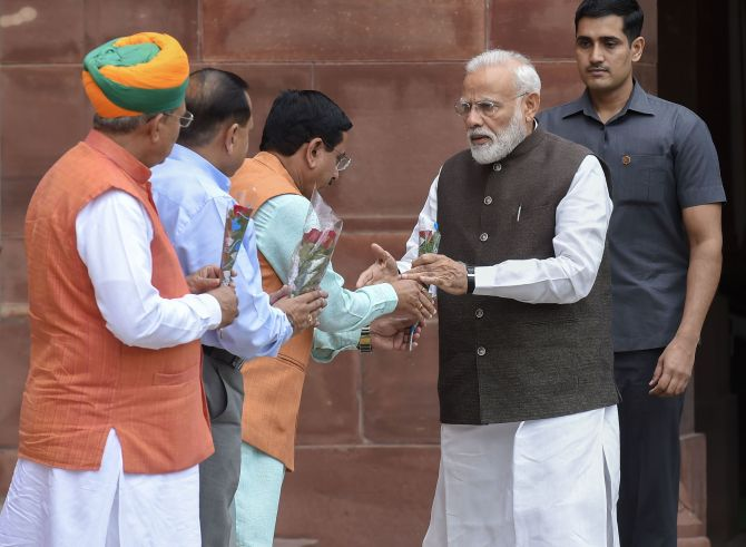 Day 1 of 17th Lok Sabha: PM, members take oath