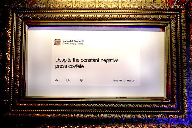 Inside The Trump Presidential Twitter Library Rediff Com India News