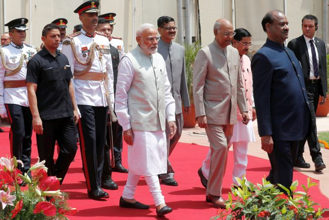Safe, inclusive India: Prez outlines Modi govt's goals