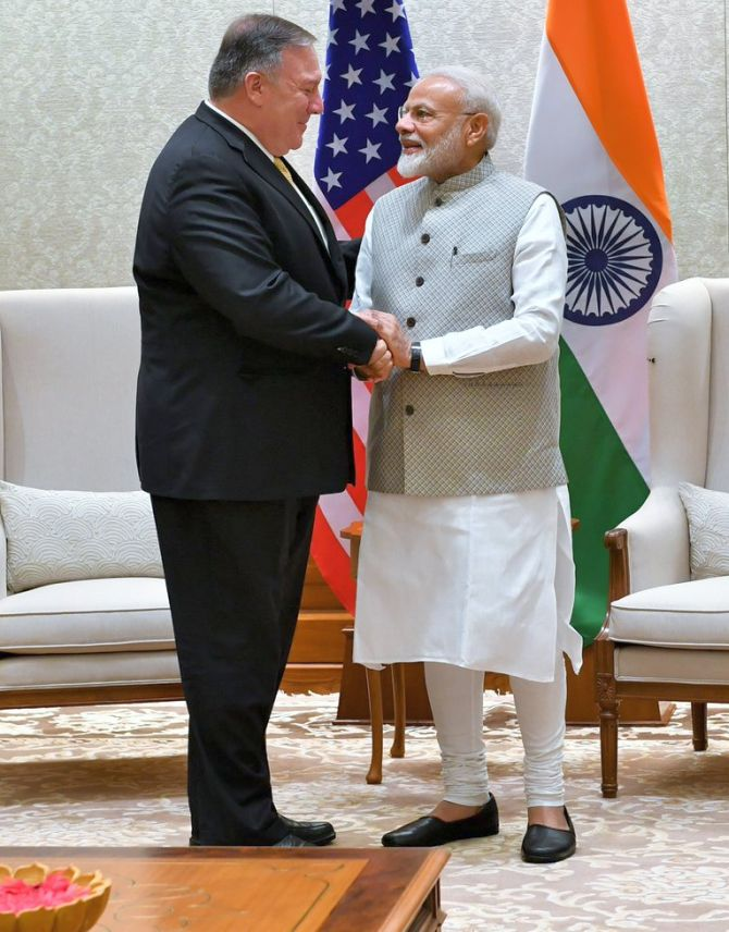Pompeo's day in India: Meets with PM, Jaishankar