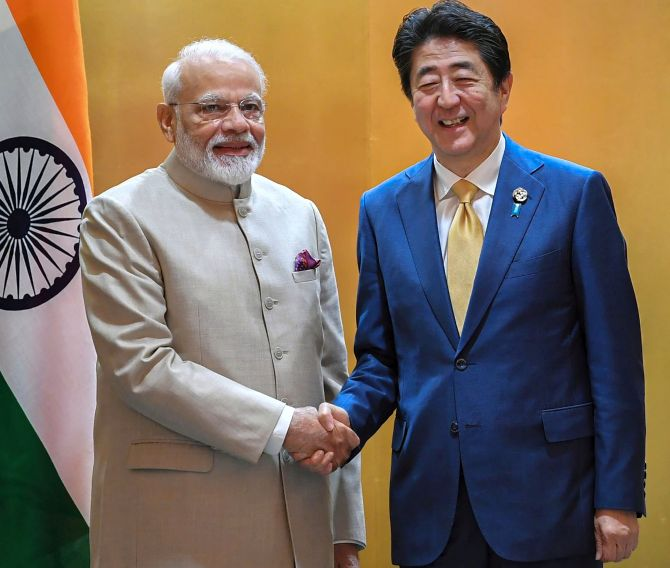 Ahead of G20 Summit, Modi meets Japan's Abe