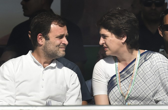 Sonia, Priyanka meet Rahul amid grim news for Cong