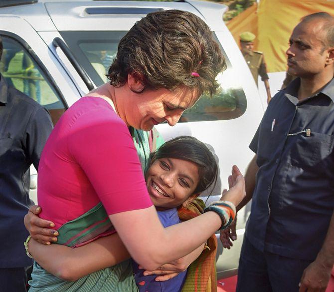 Priyanka Gandhi campaigns in Prayagraj