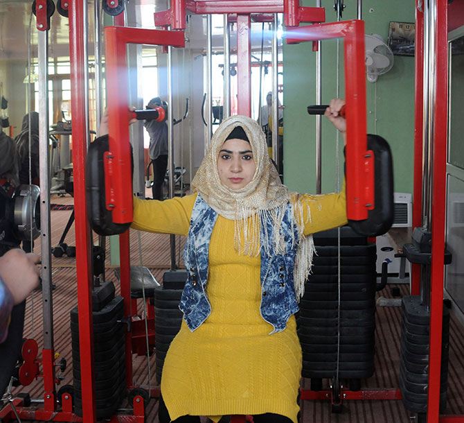 Mehreen Amin at her gym