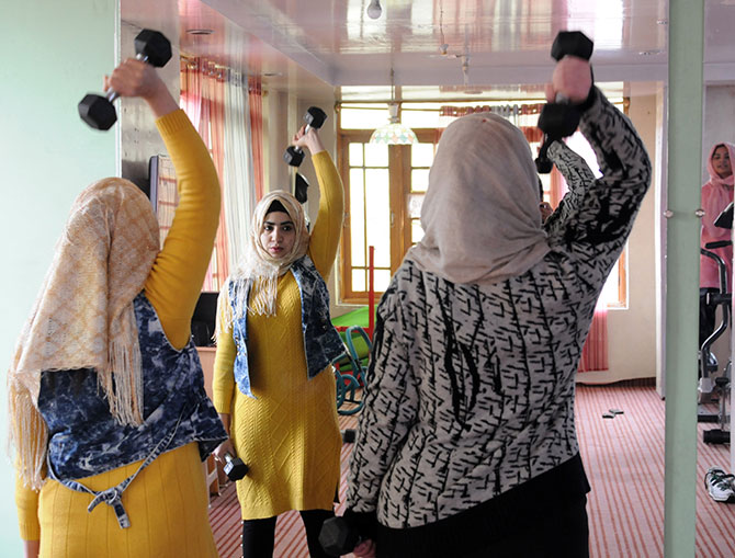 """Women feel comfortable here. The youngest member is 10 and the oldest 60,"""" Mehreen says."""