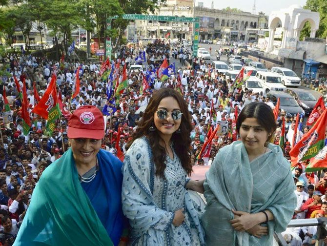 Sonakshi Sinha campaigns for her mother in Lucknow