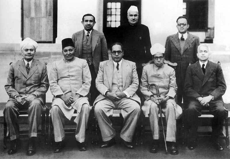 Dr B R Ambedkar, chairman, Drafting Committee of Constitution with other members