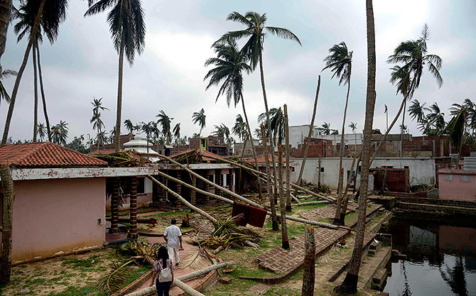 Odisha picks up the pieces after Cyclone Fani - Rediff com India News