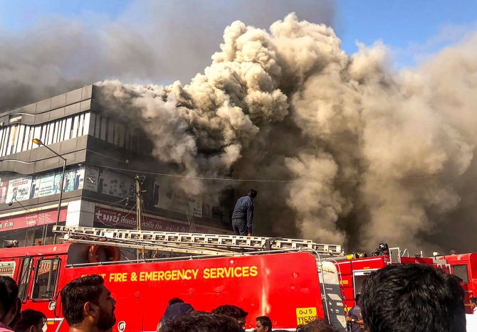 Surat fire: 18 coaching class students dead