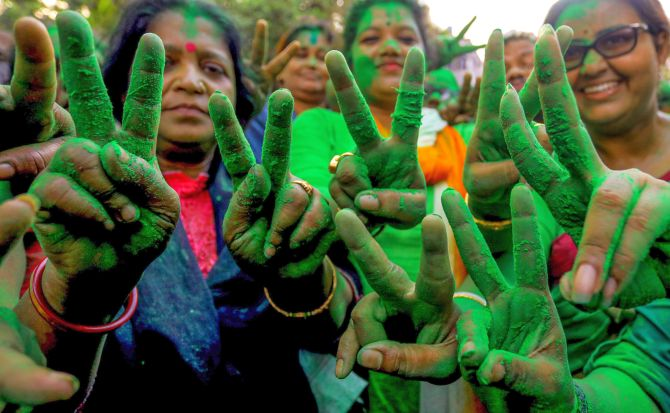 Saffron surge stuns TMC on Mamata's home turf