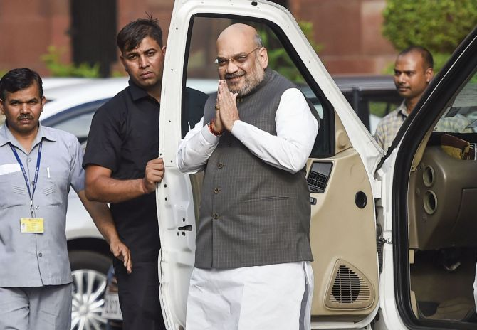 Shah reviews J-K situation