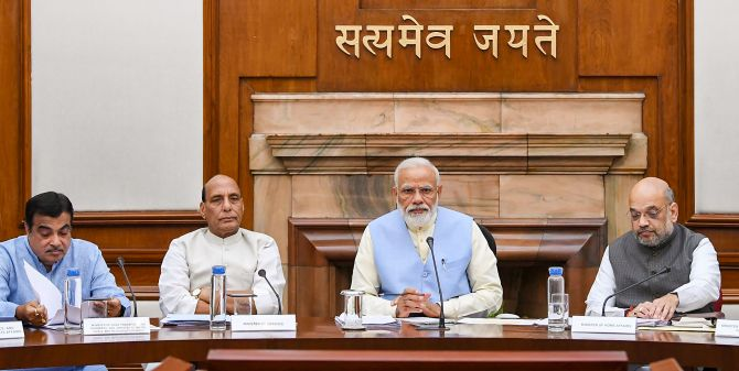 Prime Minister Modi chairs first Union Cabinet meeting in over a year