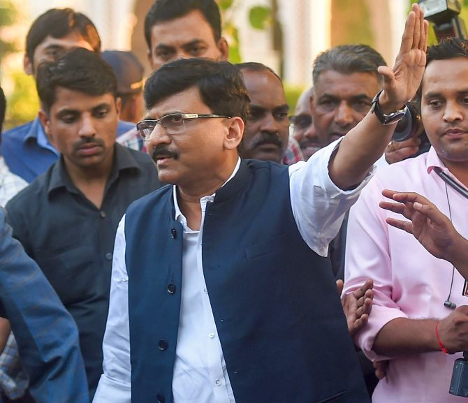Sanjay Raut, the Shiv Sena's Rajya Sabha MP and executive editor, Saamnaa, the party's daily newspaper.