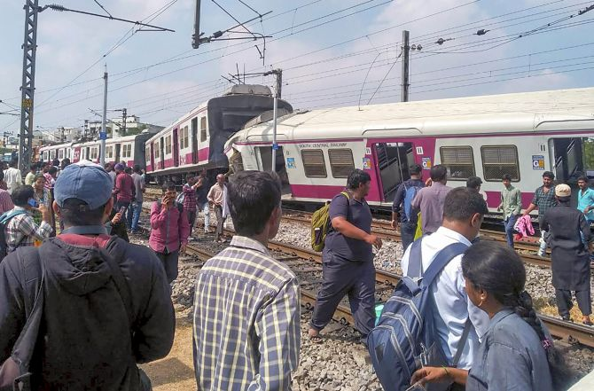 16 injured as 2 trains collide in Hyderabad