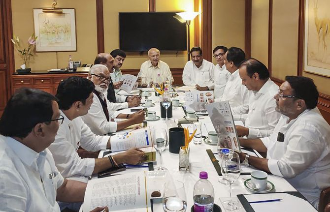 Cong-NCP hold meet that Ajit Pawar said was cancelled