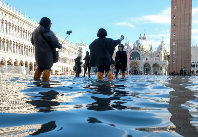 5 Venice tourist sites submerged owing to floods