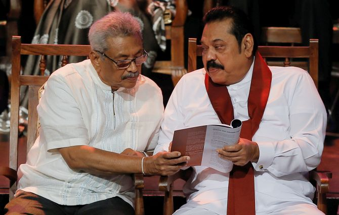 How Rajapaksa brothers scripted a memorable win - Rediff.com India News