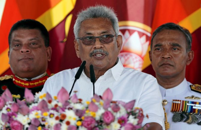Gotabaya sworn in as Sri Lanka's President