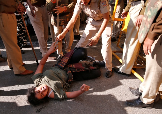 JNU students' protest brings Delhi to a halt