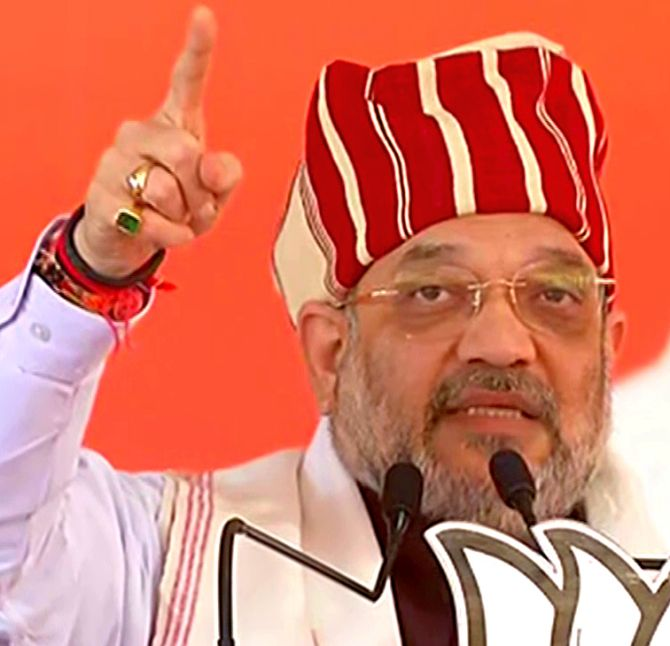 Shah accuses Cong of stalling Ayodhya judgment