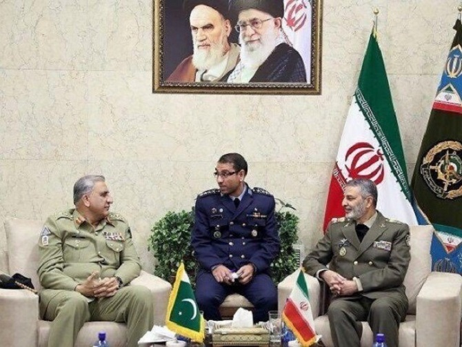 What was Pak army chief doing in Iran?