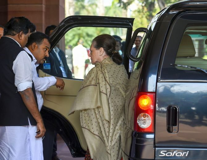 Downgraded from SPG cover, Sonia gets 10-year-old SUV