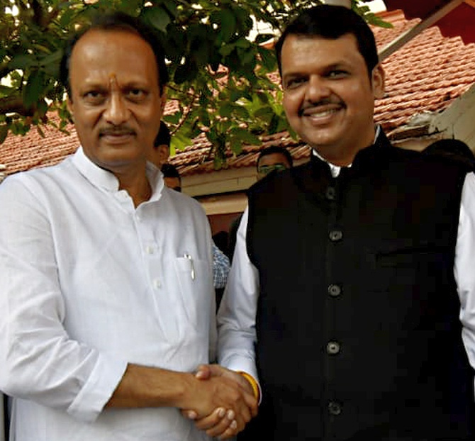 'They scared Ajit Pawar to join BJP government'