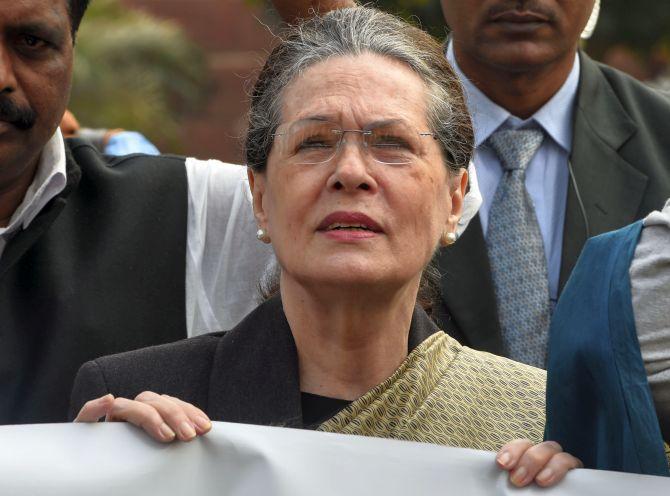 'Report of Sonia resigning as interim president false'