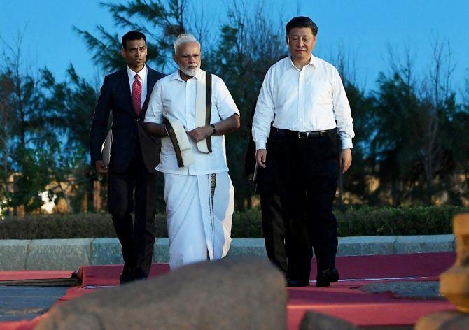 Indian Prime Minister Narendra Modi and China's President Xi Jinping
