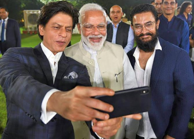 When PM Modi met Aamir and Shah Rukh