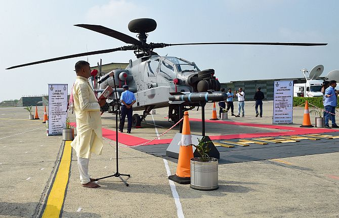 In boost to its firepower, IAF inducts 8 Apache choppers