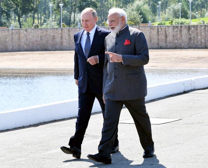 Prime Minister Narendra Modi and Russian President Vladimir Putin met in Vladivostok