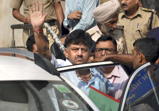D K Shivakumar sent to judicial custody till Oct 1