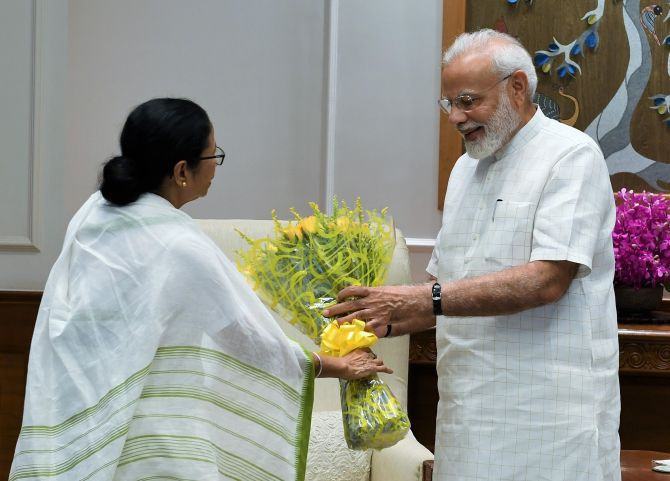 Mamata meets PM; talks include changing state's name