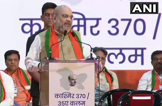 Amit Shah blames Nehru for PoK's existence