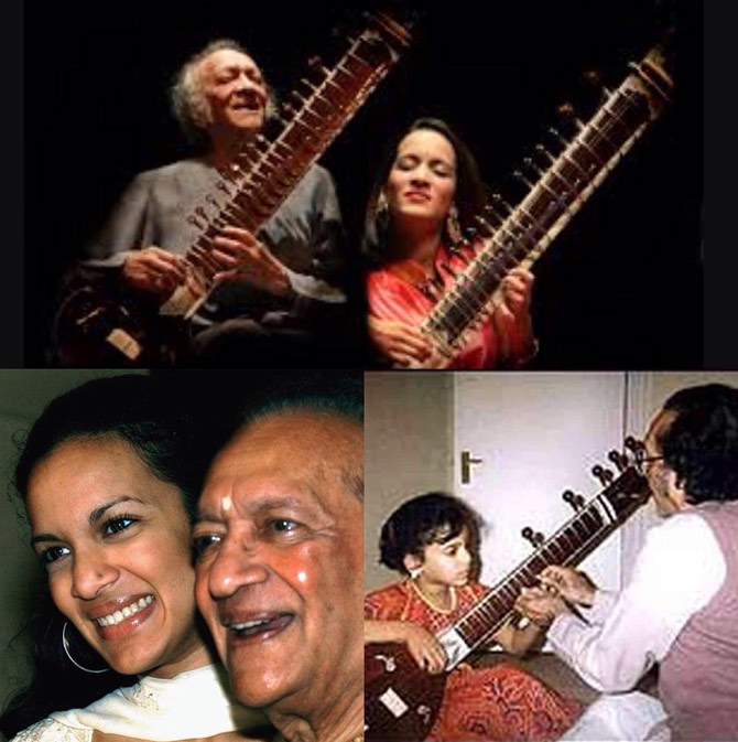 Anoushka and Ravi Shankar