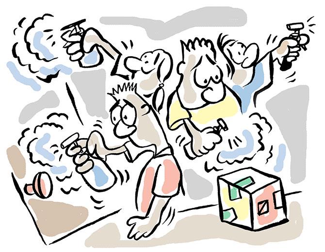 Coronavirus illustrated by Uttam Ghosh