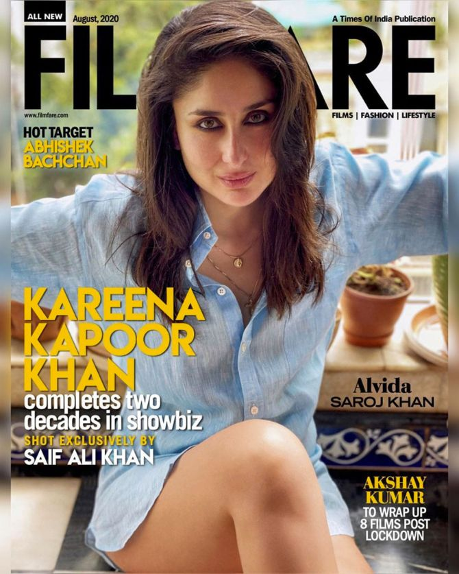 Kareena Kapoor Khan on Filmfare August 2020 cover