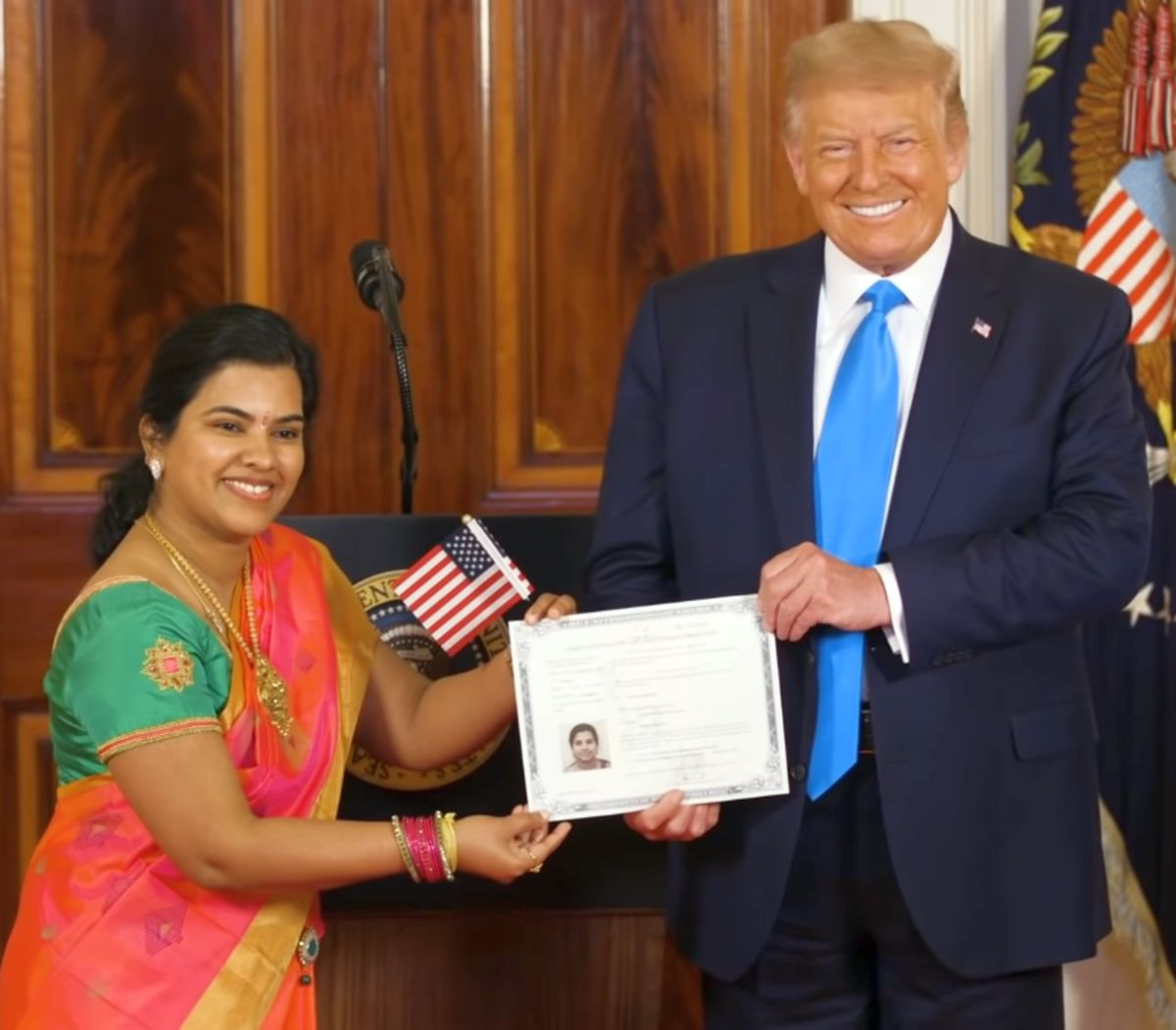 'Never dreamed of it': Indian who became US citizen